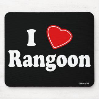 I Love Rangoon Mousepad