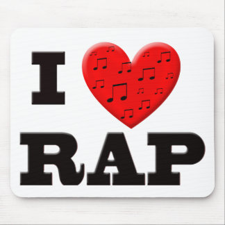 I Love Rap Mouse Pad