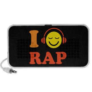 I love rap music smiley with headphones speakers