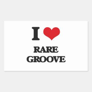 I Love RARE GROOVE Rectangular Stickers