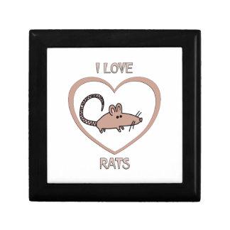 I Love Rats Gift Box