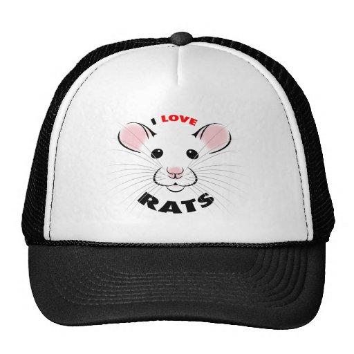 I Love Rats Hat Cap