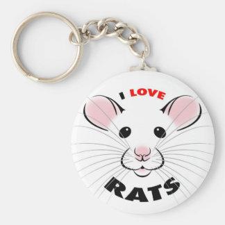 I Love Rats Keychain