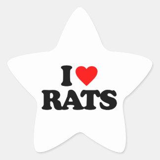 I LOVE RATS STICKERS