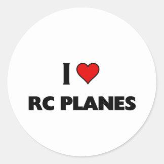 I love RC Planes Round Sticker