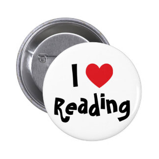 I Love Reading 6 Cm Round Badge