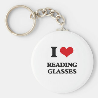I Love Reading Glasses Key Ring