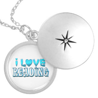 I Love Reading Silver Plated Necklace