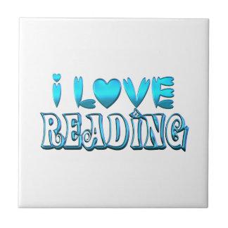 I Love Reading Tile