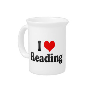 I Love Reading, United Kingdom Drink Pitcher
