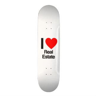 i love real estate custom skate board