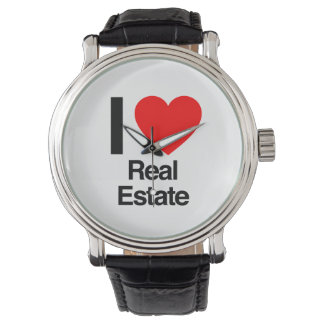 i love real estate wristwatches