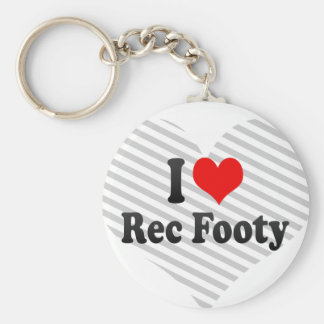I love Rec Footy Basic Round Button Key Ring