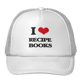 I Love Recipe Books Hats
