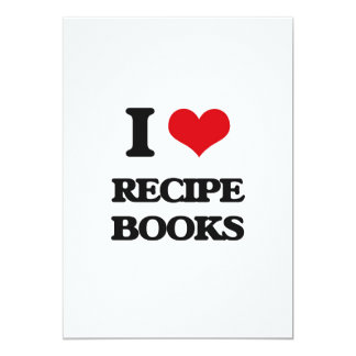 "I Love Recipe Books 5"" X 7"" Invitation Card"