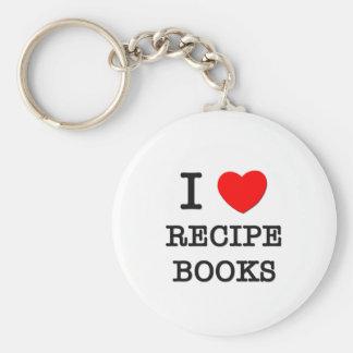 I Love Recipe Books Keychain