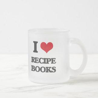 I Love Recipe Books Frosted Glass Mug