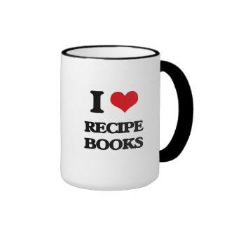 I Love Recipe Books Ringer Mug