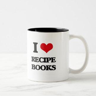 I Love Recipe Books Two-Tone Mug