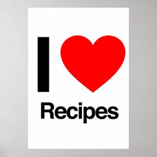 i love recipes posters
