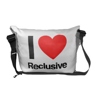 i love reclusive courier bag