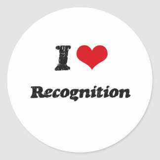 I love Recognition Sticker