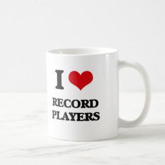 I Love Record Players Coffee Mug