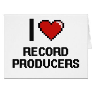 I love Record Producers Large Greeting Card