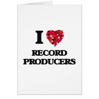 I love Record Producers Greeting Card