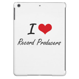 I love Record Producers iPad Air Covers