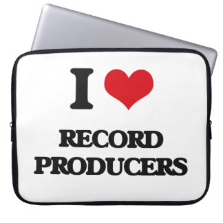 I love Record Producers Computer Sleeve