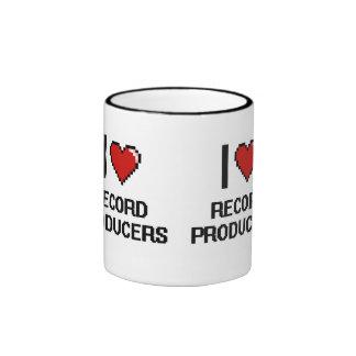 I love Record Producers Ringer Coffee Mug