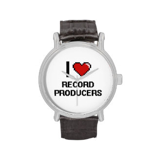 I love Record Producers Wrist Watch