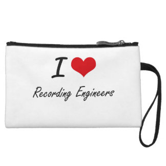 I love Recording Engineers Wristlet Purse
