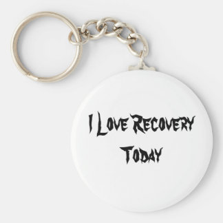I Love Recovery Today Basic Round Button Key Ring