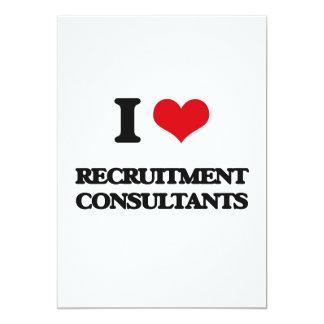 """I love Recruitment Consultants 5"""" X 7"""" Invitation Card"""