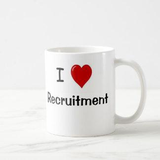I Love Recruitment Recruitment Loves Me Basic White Mug