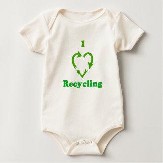 I Love Recycling Baby Bodysuit