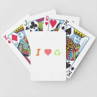 I love recycling bicycle playing cards