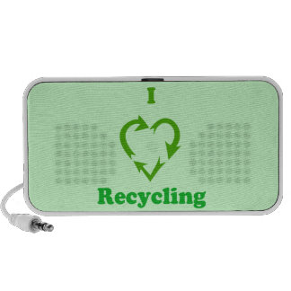 I Love Recycling iPhone Speakers