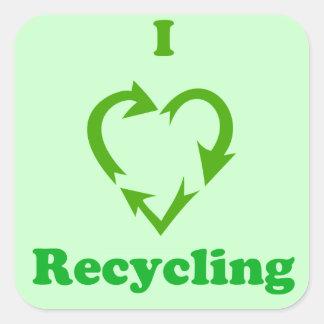 I Love Recycling Sticker