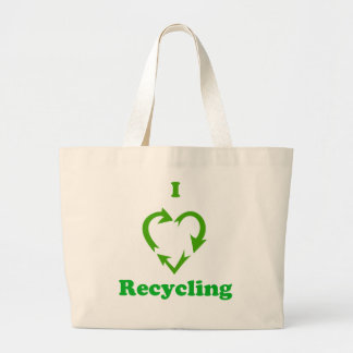 I Love Recycling Tote Bags