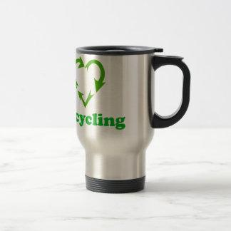 I Love Recycling Travel Mug