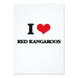 I love Red Kangaroos Personalized Announcement