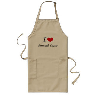 I Love Redeemable Coupons Long Apron