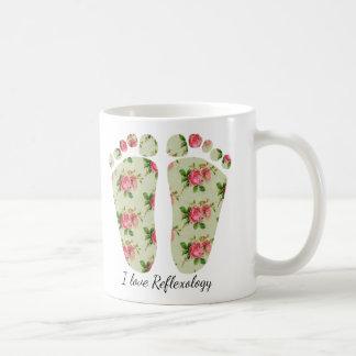 I love reflexology floral feet mug reflexologist