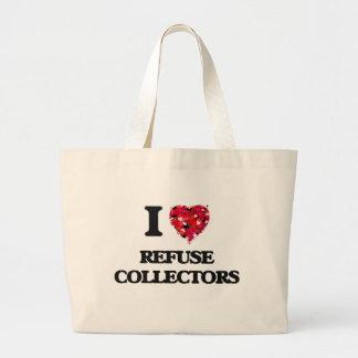 I love Refuse Collectors Jumbo Tote Bag