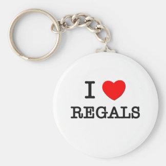 I Love Regals Basic Round Button Key Ring