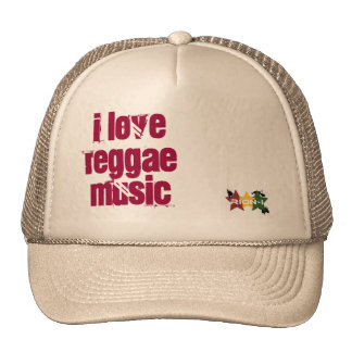 """i love reggae music"" cap"