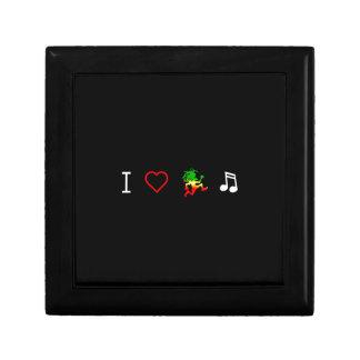 I Love Reggae Music Small Square Gift Box